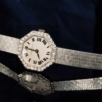 江诗丹顿  1960s Octagon Diamond Roman Numeral 18Kt White Gold Watch