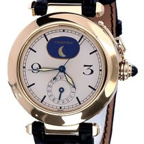 Cartier Pasha Yellow Gold Moonphase Cream Dial 18 krt (38 mm)