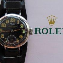 Rolex Silber Handaufzug Schwarz Arabisch 33mm gebraucht