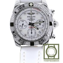 Breitling Chronomat 41 Staal 41mm Wit Geen cijfers