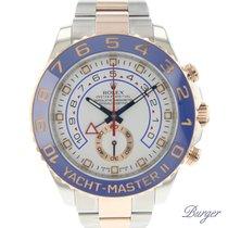 Rolex Yacht-Master II Ouro/Aço 44mm Branco Árabes