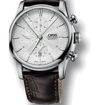 Oris Artelier Chronograph Steel 44mm Silver No numerals
