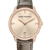 Harry Winston Rose gold Champagne 32mm pre-owned Midnight