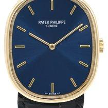 Patek Philippe Golden Ellipse Or jaune 27mm Bleu Sans chiffres