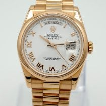 Rolex Day-Date 36 Rose gold 36mm White United States of America, California, Marina Del Rey