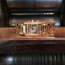 Cartier Tank Française gebraucht Gelbgold