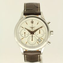 Longines Column-Wheel Chronograph Staal 41mm Champagne Geen cijfers Nederland, The Netherlands