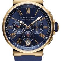 Ulysse Nardin Marine Chronograph 1532-150-3/43 Ulysse Nardin Cronografo Oro Rosa gomma Blu новые