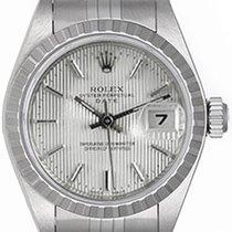 Rolex Ladies Rolex Date Watch 69240 Silver Tapestry Dial