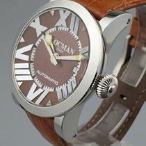 Locman Toscano Steel 38mm Brown Arabic numerals