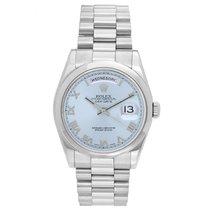 Rolex Men's Glacier Blue Rolex President Day-Date Watch 118209