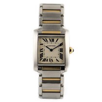 Cartier TANK FRANCAISE MIDSIZE STEEL AND GOLD 18K