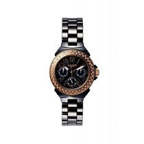Lancaster Italy Lady Ceramic Diamond Watch 36 mm Black 0.59ct...