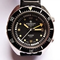 Aquastar 42mm Automatic 1970 pre-owned Black