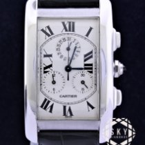 Cartier Tank Américaine White gold Roman numerals United States of America, New York, NEW YORK