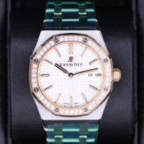 Audemars Piguet Royal Oak Lady Gold/Steel 33mm Silver No numerals