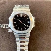 Patek Philippe Nautilus Black Dial White Gold Automatic -...