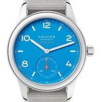 NOMOS Club Neomatik Staal 37mm Blauw