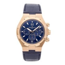 Vacheron Constantin Rose gold Automatic Blue No numerals 42.5mm pre-owned Overseas Chronograph