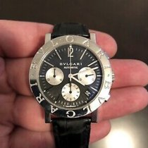 Bulgari Bulgari pre-owned 38mm Black Chronograph Date Leather