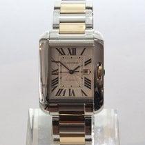 까르띠에 탱크 앙글레즈 신규 2013 자동 시계 및 정품 박스와 서류 원본 w5310007