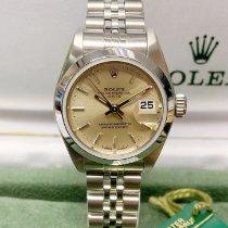 Rolex Oyster Perpetual Lady Date Çelik 26mm Gümüş