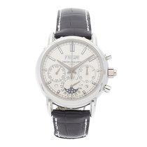 Patek Philippe Platine Remontage manuel Argent Sans chiffres 40mm occasion Perpetual Calendar Chronograph