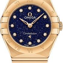 Omega Yellow gold Quartz Blue 25mm new Constellation Quartz