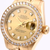 Rolex 18k President Crown Collection Factory Diam Dial &...