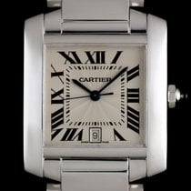 Cartier Tank Française pre-owned 28mm White gold