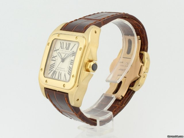 Cartier Santos Automatic 18K Gold 2880 for  10 9a563dbbc34b8