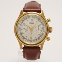 Nivada Vintage Chronograph Waterproof Round Pushers 18K Gold