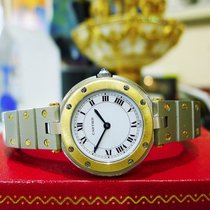 Cartier Santos Round Steel 18k Gold 27mm  Quartz Watch