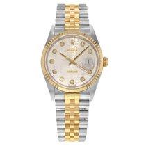 Rolex Datejust 16233 18K Yellow Gold & Steel Watch (17600)