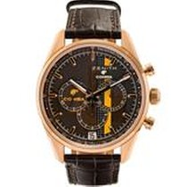 Zenith El Primero Rose gold 42mm Brown United States of America, Massachusetts, Boston