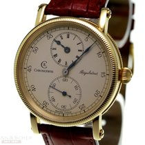 Chronoswiss Yellow gold Manual winding Silver Roman numerals 38mm pre-owned Régulateur