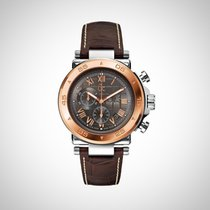 Guess Collection X90005G2S Mens Stainless Steel Leather Strap...