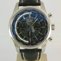 Breitling Transocean Chronograph Unitime Acero 46mm Negro
