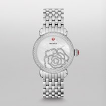 Michele CSX Steel 36mm Mother of pearl United States of America, New Jersey, Edgewater