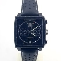 TAG Heuer Monaco Calibre 12 Steel 39mm Black No numerals United States of America, New Jersey, Long Branch