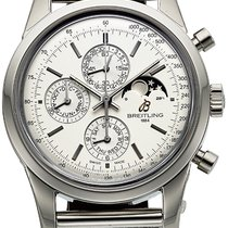 Breitling Transocean Chronograph 1461 Steel 43mm Silver No numerals United States of America, California, Los Angeles