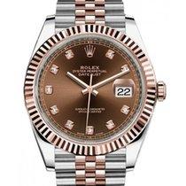 Rolex Datejust II Gold/Steel 41mm Brown No numerals United Kingdom