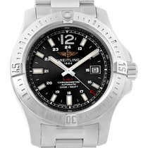 Breitling Colt Black Dial Automatic Steel Mens Watch A17388...