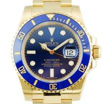 Rolex Submariner Date 18K YG / Ceramic Blue Dial - 116618