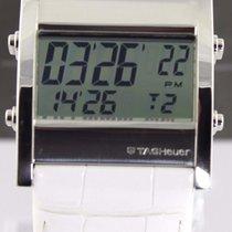 TAG Heuer Microtimer Cs111g.fc6199 Digital White Leather Swiss...