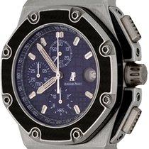 Audemars Piguet Platinum Automatic Blue No numerals 42mm pre-owned Royal Oak Offshore Chronograph