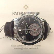 Patek Philippe Annual Calendar Chronograph Platina 40,5mm Grijs Geen cijfers