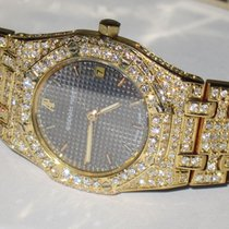 Audemars Piguet Yellow gold Quartz Grey No numerals 24mm pre-owned Royal Oak