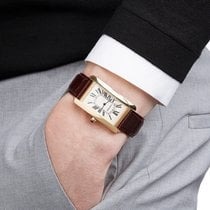 Cartier Tank Américaine tweedehands 26mm Geelgoud