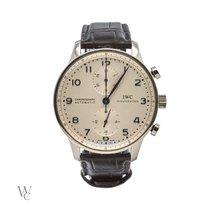IWC Portuguese Chronograph Steel 41.5mm White Arabic numerals